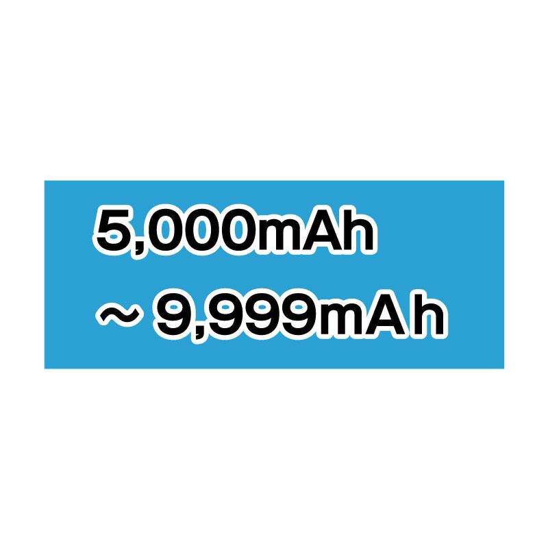 5,000mAh~9,999mAh