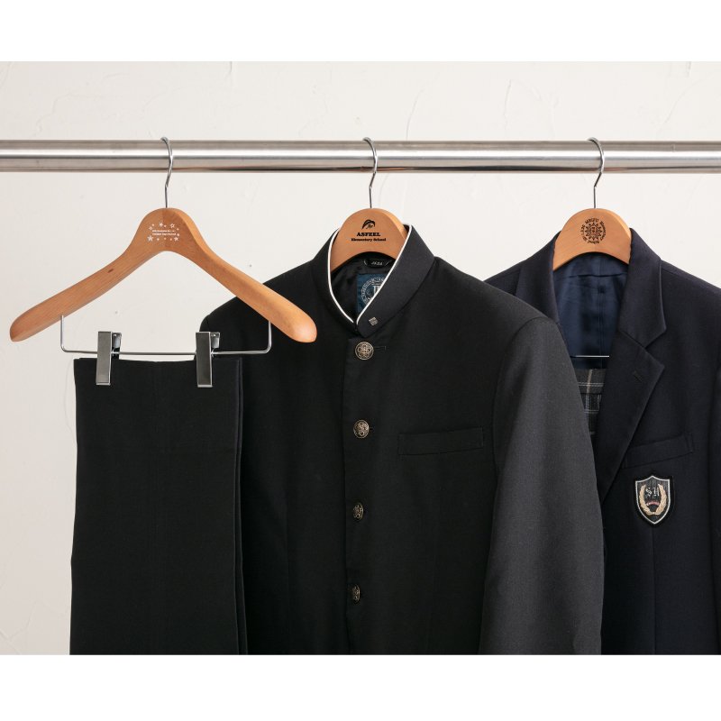 制服をかけている使用イメージ